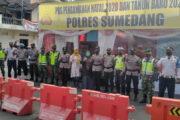 Polres Sumedang Ops Lilin Lodaya 2020 di Pos Pelayanan Taman Kota